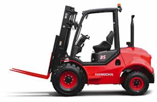 Rough Terrain 2.5 – 5t 2WD Diesel Forklift