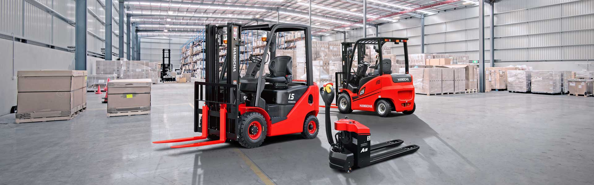 Warehouse Range Hangcha Trucks
