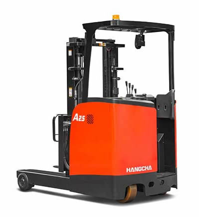 Reach Truck Stand On A Series